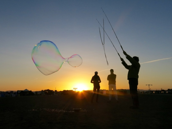 AfrikaBurn sunrise bubble